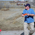 Pastor Keith at the 2005 Ice Bowl at West Arvada Disc Golf Course.