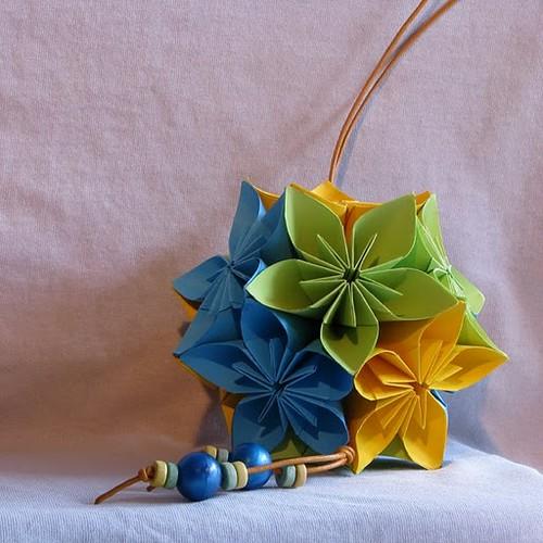 оригами, модулни оригами, фигури от хартия, кусудама, Неферет