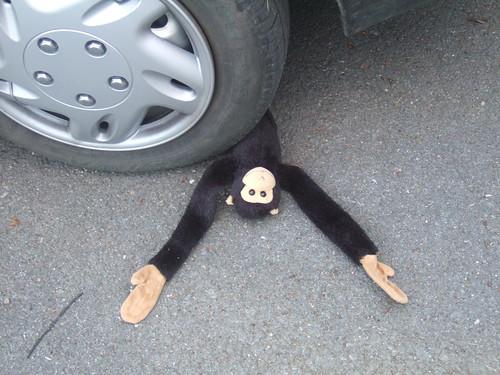 Monkey down, monkey down!