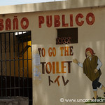 Public Toilet English Troubles - Border Between Peru and Bolivia