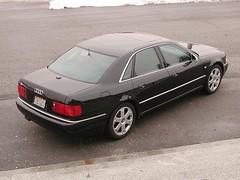 audi a8(0.0), automobile(1.0), automotive exterior(1.0), audi(1.0), executive car(1.0), wheel(1.0), vehicle(1.0), full-size car(1.0), mid-size car(1.0), audi s8(1.0), audi 100(1.0), sedan(1.0), land vehicle(1.0), luxury vehicle(1.0),