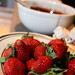 Earth Eats: Warm Chocolate Ganache With Fresh Strawberries