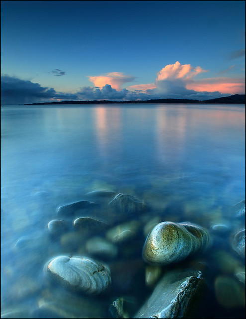 Snow Clouds @ Sunset - Glenuig Bay