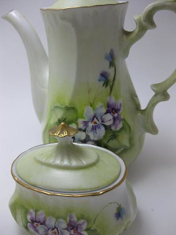 Dainty and Lady Like Teapot and Covered Sugar
