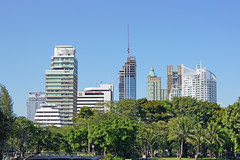 Bangkok Skyline from Lumphini Park