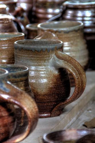 mugs dallas nc northcarolina hdr gastoncounty lockmanpottery davidhopkinsphotography