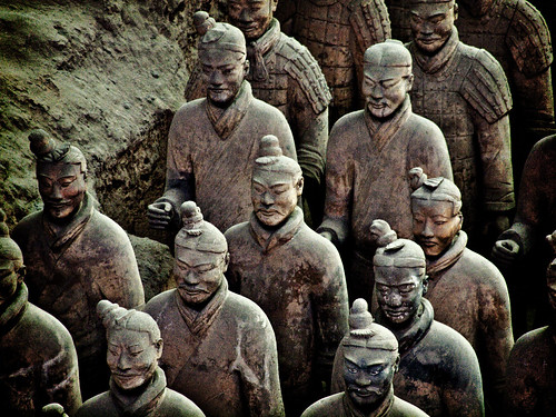Terracotta Warrior Statues at Xian, China