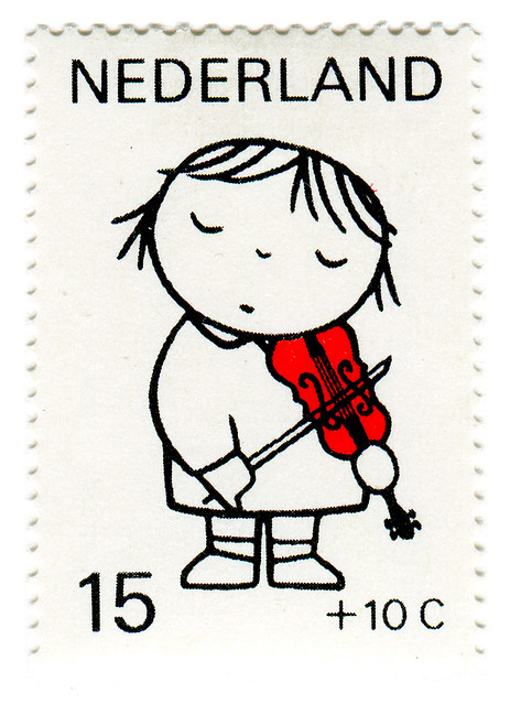 Netherlands Postage Stamp: Dick Bruna, violin