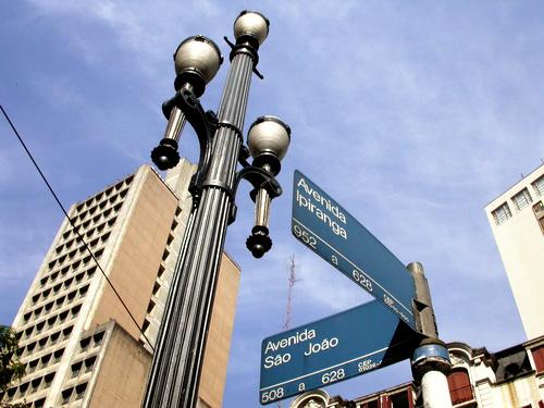 Cruzamento da Avenida Ipiranga com a Avenida São João, SP