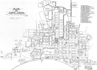 Cape Town Map, c1845