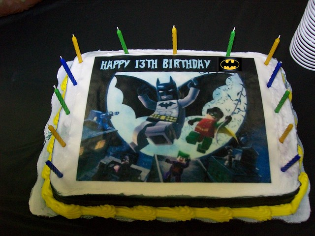 Lego Batman Party Cake Edible Paper image off of Ebay ...