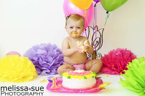 One-year-old's cake smash