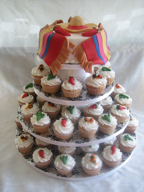 Mexican Themed Wedding Cake Cupcakes