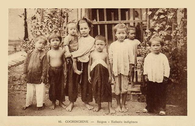 SAÏGON - Jeune Fille Annamite - Enfants Indigenes