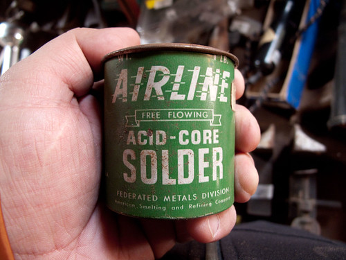 Airliner Acid-Core Solder.