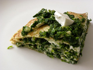 A spinach pancake pie (!!!) | by roolrool