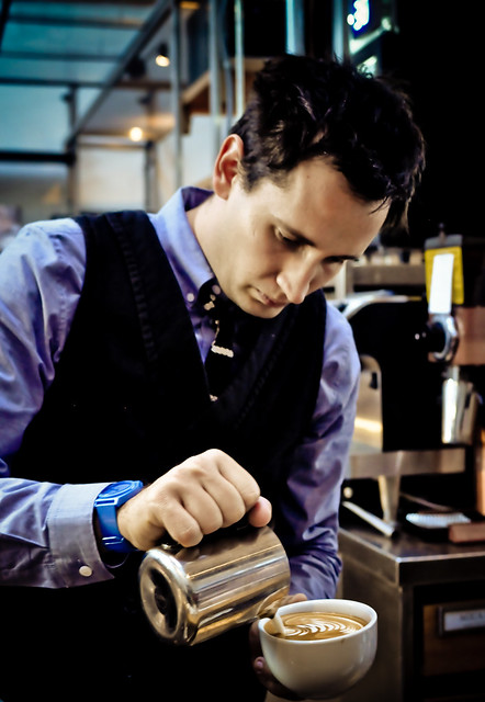 Barista at Intelligentsia Coffee in Venice, California