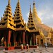 Temples in front of Shwedagon Paya