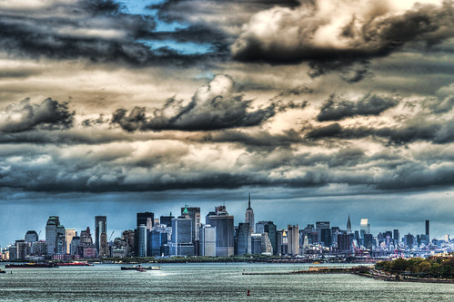 nyc ny newyork skyline brooklyn clouds bay harbor manhattan sigma hdr 70200mm d300 photomatix fortwadsworth topazadjust robertcatalano