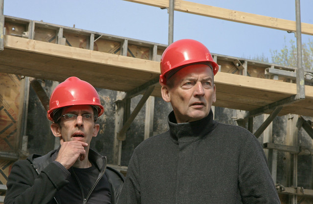 Kolhaas visits the Milstein Hall construction site