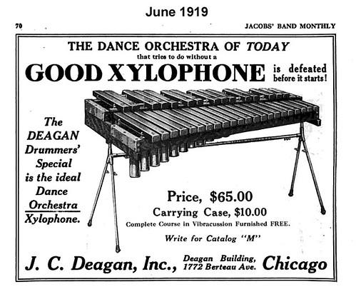Xylophone Sales Ad 1919