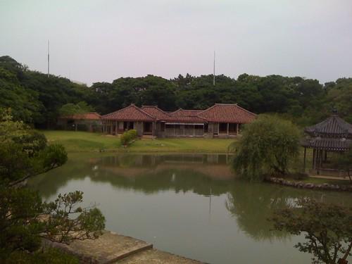 識名園(しきなえん)の池と御殿