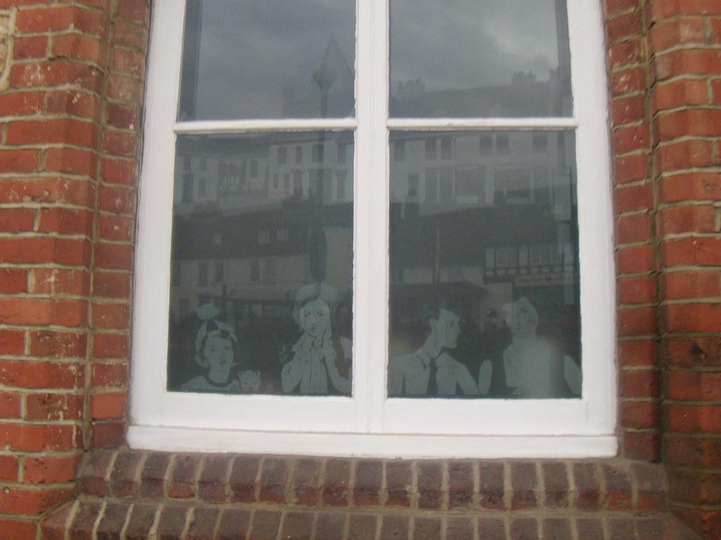 Engraved window,Westerham Hurst Green to Westerham
