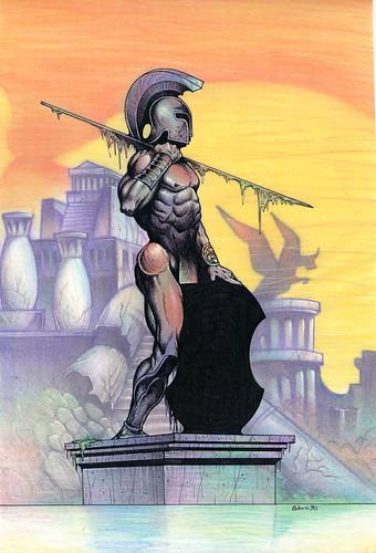 Atlantis Gladiator - Frank Frazetta by elias silveira ilustração & design