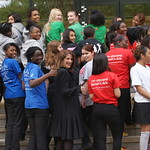 Students from Hornsey School for Girls representing local charities