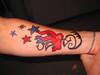 """Closeup of Matt's """"Tattoo"""" Matt was very"""