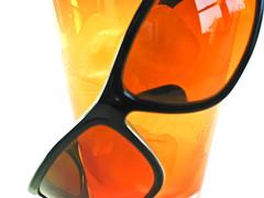 drinkware(0.0), bottle(0.0), vase(0.0), lighting(0.0), amber(1.0), orange(1.0), yellow(1.0), amber(1.0), glass(1.0),