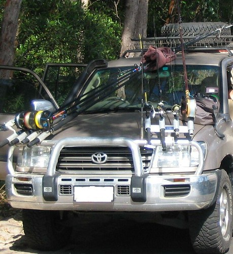 Jeep liberty fishing rod rack car interior design for Jeep fishing rod holder