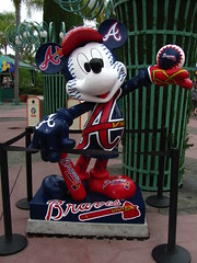 Mickey Mouse Atlanta Braves Statue in the Western Esplanade/Downtown Disney