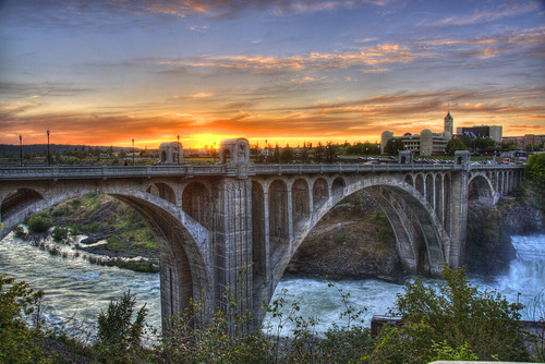Sunset in Spokane