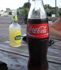 beer bottle(0.0), beer(0.0), soft drink(1.0), carbonated soft drinks(1.0), bottle(1.0), drink(1.0), cola(1.0), coca-cola(1.0),