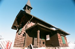 Little church at the top of a mountain