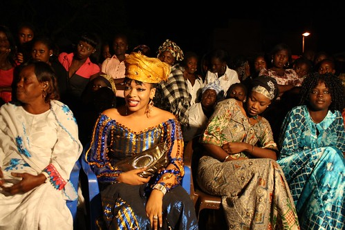 <p>Pop Star Oumou Sow was invited as a guest of honor to this sabar in her home neightborhood of Medina, Dakar.</p>