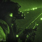 RAF Loadmaster with Night Vision Goggles