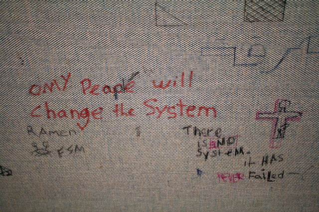 Only people will change the system