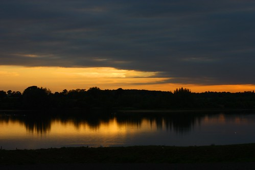 trees sunset lake water clouds buckingham foscote nd4 foxcote