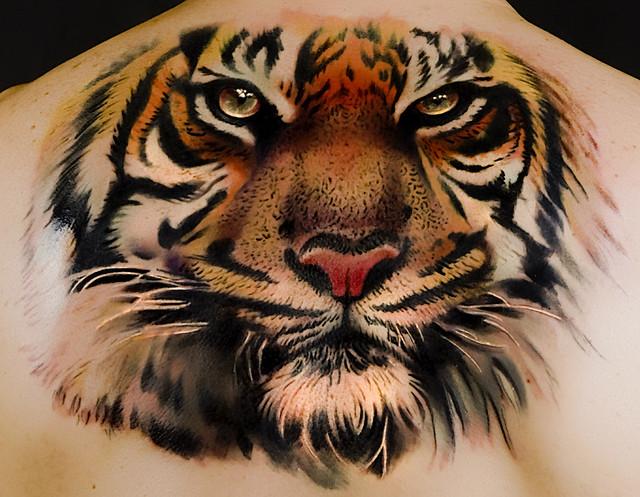 Tattoo tiger by andrea afferni