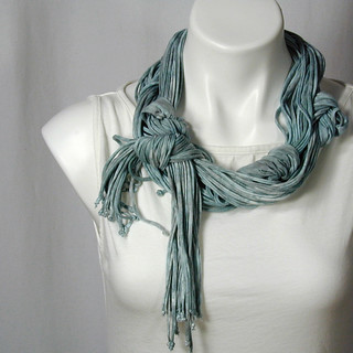 The Soba Scarf in Cerulean Mist