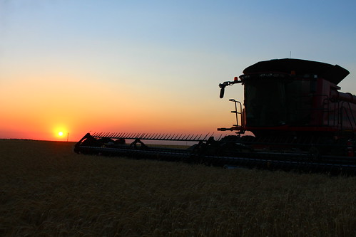 Gorgeous sunset. I literally stopped the combine for some shots.