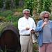 Tono Stano a Jan Hřebejk pokřtili ročník 2016 z vinice sv. Kláry, foto: Petr Nejedlý