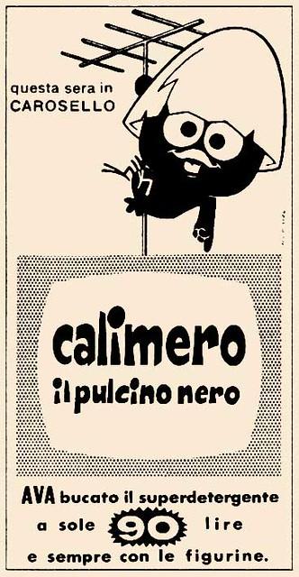 Calimero. Pubblicità degli anni '60.