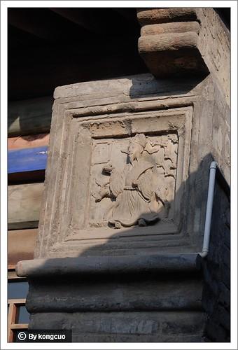 图:墀头上的砖雕