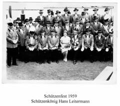 1959 Schützenfest, Schützenkönig Hans Leitermann, Königin Christel, SW083