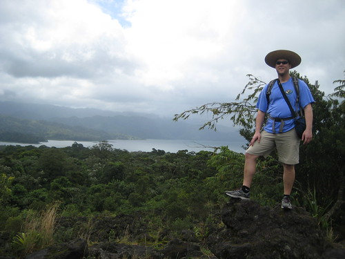 Posing at the lava fields