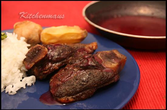 Lamb Chops with Pomegranate Sauce
