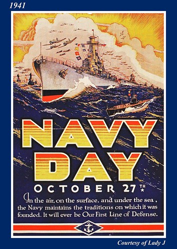 WWII Morale poster, 1941, Navy Day by mcudeque